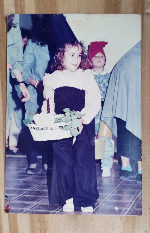 Cuando tenia cinco años actué de la bruja de la bella durmiente